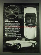 1978 British Leyland MG MGB Car Ad - Widen Horizons