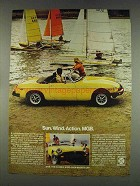 1978 British Leyland MG MGB Car Ad - Sun Wind Action