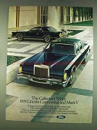 1978 Lincoln Continental and Mark V Cars Ad