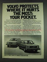 1978 Volvo Cars Ad - Protects Where it Hurts the Most
