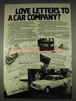 1978 Volvo Cars Ad - Love Letters to Car Company