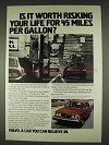 1978 Volvo Cars Ad - Worth Risking Your Life