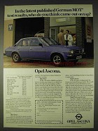 1978 Opel Ascona Ad - Latest German MOT