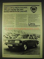 1978 Lancia Beta Saloon Ad - Buy For Your Family