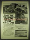 1978 Princess 2200 HLS Car Ad - Show the Foreigners