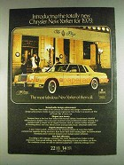 1979 Chrysler New Yorker Fifth Avenue Edition Ad
