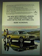 1978 Chrysler LeBaron Ad - Don't Spend Anything More