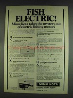 1978 Minn Kota 65 Electric Fishing Motor Ad