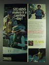 1978 Stearns Fishing Vest Ad - Makes It a Carefree Day