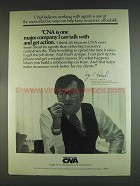 1978 CNA Continental Assurance Company Ad - Talk With