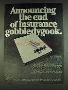 1978 The St. Paul Insurance Ad - End Gobbledygook