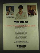 1978 Prudential Insurance Ad - They Need Me