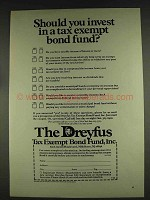 1978 The Dreyfus Fund Ad - Invest in Tax Exempt Bond