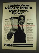 1978 TWA Airlines Ad - Round-Trip Check-In