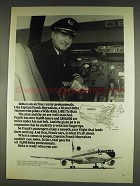 1978 Delta Airlines Ad - Captain Frank Moynahan
