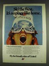 1978 United Airlines Ad - Ski the West