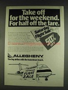 1978 Allegheny Airlines Ad - Take Off for the Weekend