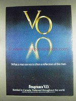 1978 Seagram's V.O. Whisky Ad - Reflection of the Man