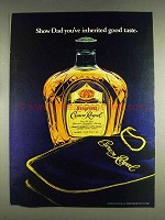 1978 Seagram's Crown Royal Ad - Inherited Good Taste