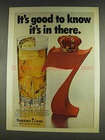 1978 Seagram's 7 Crown Whiskey Ad - Good To Know