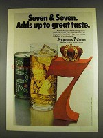 1978 Seagram's 7 Crown Whiskey Ad - 7up