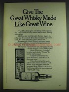 1978 Old Forester Whisky Ad - Like Great Wine