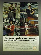 1978 Miller Beer Ad - Hire The People You Want