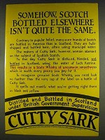 1978 Cutty Sark Scotch Ad - Elsewhere Isn't the Same