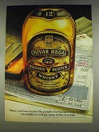 1978 Chivas Regal Scotch Ad - Penalty in Your Bracket