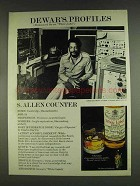 1978 Dewar's White Label Scotch Ad - S. Allen Counter