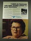 1978 Grumman Sunstream solar water heating system Ad