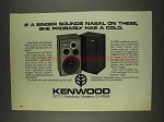 1978 Kenwood LS-408A Speakers Ad - Singer Nasal