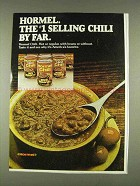 1978 Hormel Chili Ad - #1 Selling Chili By Far