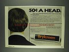 1978 Brylcreem Hair Groom Ad - 50c a Head