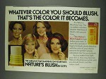 1978 Coty Nature's Blush Ad - Whatever Color You Should