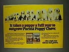 1978 Purina Puppy Chow Ad - Takes a Puppy a Full Year