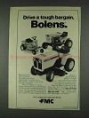 1978 FMC Bolens Riding Mowers Ad - Tough Bargain