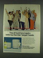 1978 Ivory Liquid Ad - Better Than Bargain Brands