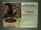 1978 Bite-Size Tabby Cat Food Ad - Neat Meat