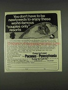 1978 Poconos of Pennsylvania Ad - Don't be Newlyweds