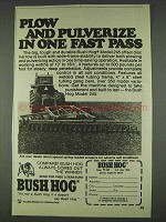 1978 Bush Hog Model 245 Ad - Plow and Pulverize