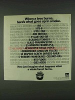 1978 Smokey the Bear Ad - What Goes Up in Smoke