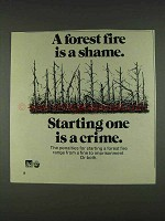 1978 Smokey the Bear Ad - A Forest Fire is a Shame
