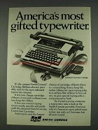 1978 Smith-Corona Cartridge Ribbon Typewriter Ad - Most Gifted