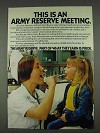 1978 U.S. Army Reserve Ad - This is An Army Meeting