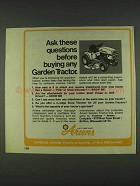 1978 Ariens Garden Tractor Ad - Ask These Questions