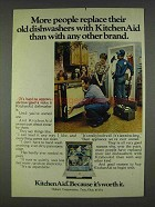 1978 KitchenAid Dishwashers Ad - More People Replace