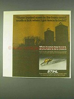 1978 Stihl 028 Chain Saw Ad - Busted in the Barn
