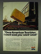 1978 American Tourister Luggage Ad - I Went East