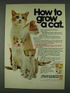 1978 Purina Kitten Chow Ad - How to Grow a Cat